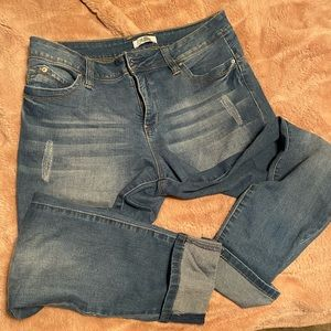 Cropped skinny jeggings no piling.